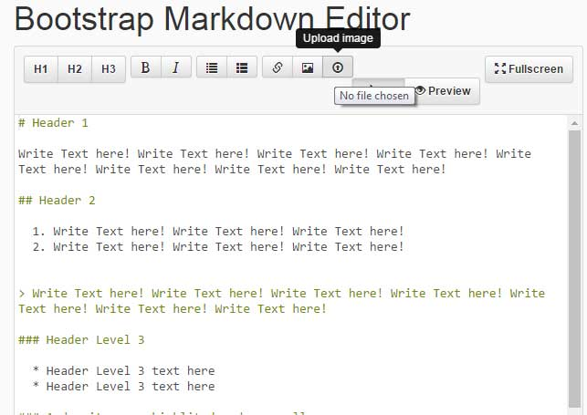 jQuery text editor image upload