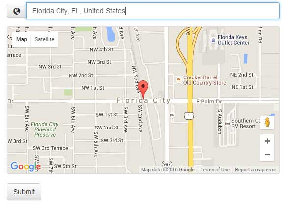 jQuery google map view