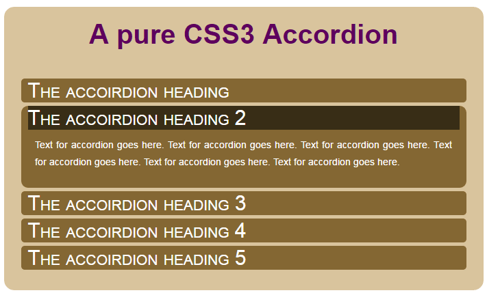 CSS accordion style