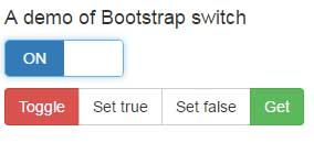 Bootstrap toggle switch