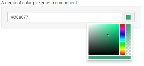 Bootstrap color picker component