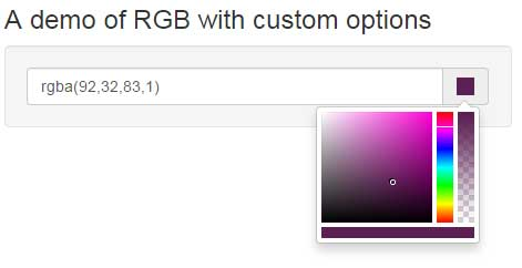 Bootstrap color picker RGB
