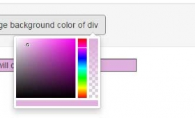 A Bootstrap / jQuery color picker with 7 demos