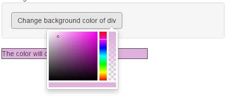 Bootstrap color picker background