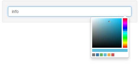 Bootstrap color picker alias