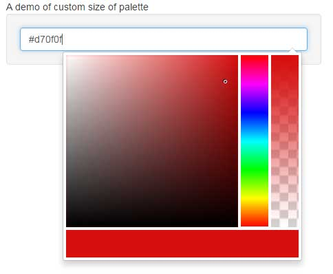 Bootstrap color picker size