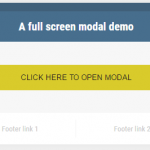 A jQuery full screen modal: 3 demos with Bootstrap classes