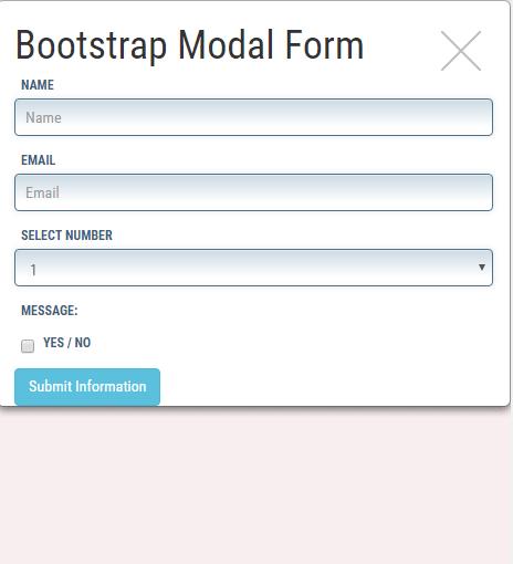 Bootstrap jQuery modal