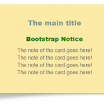 A pure CSS / Bootstrap notice card: 2 templates