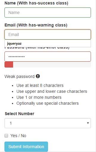jQuery password strength