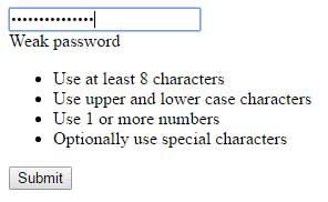 jQuery password strength raw