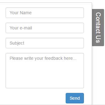 Bootstrap Feedback Contact Sliding Form By Using Jquery