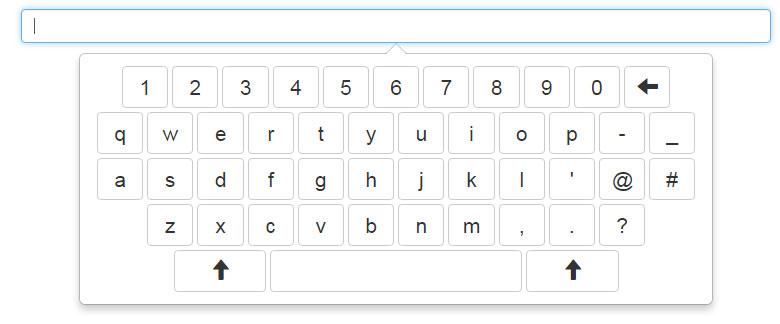 Bootstrap touchpad keyboard