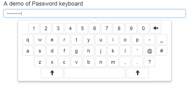 jQuery keyboard password