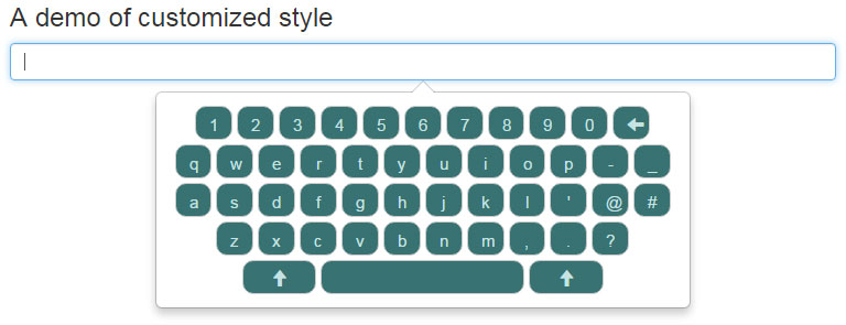 jQuery keyboard customized CSS