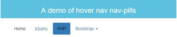 Bootstrap hover nav pills