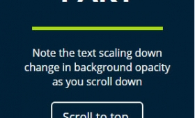 jQuery effects / animations as scroll down with Bootstrap