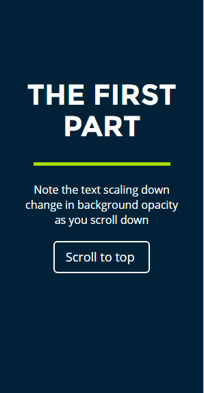 jQuery animations scroll