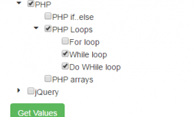 jQuery treeview with checkboxes: 2 examples with Bootstrap