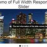 jQuery full width slider / carousel for images: 2 demos