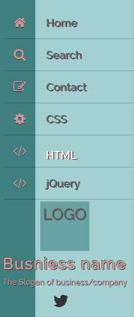CSS menu off-canvas