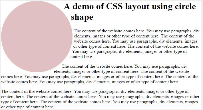 CSS shape