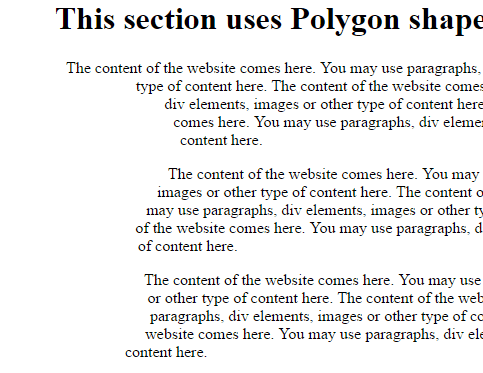 CSS shape polygon
