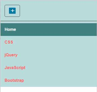 CSS menu button