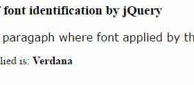 What is font-family applied in web page? Find by jQuery font detect plug-in: 4 demos