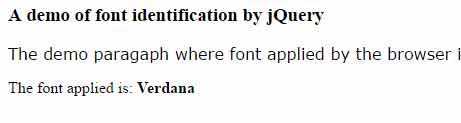 jquery font detection inline