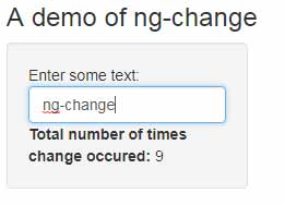 The ng-change in angularJS: 4 examples