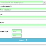 Bootstrap search box with additional filters – 2 demos