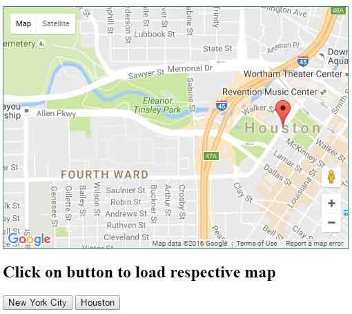jquery map button