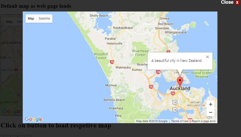 jquery map overlay