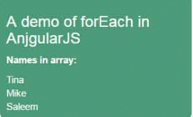 Angular forEach explained with 2 examples