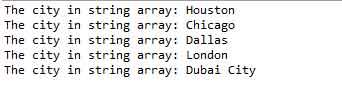 array string