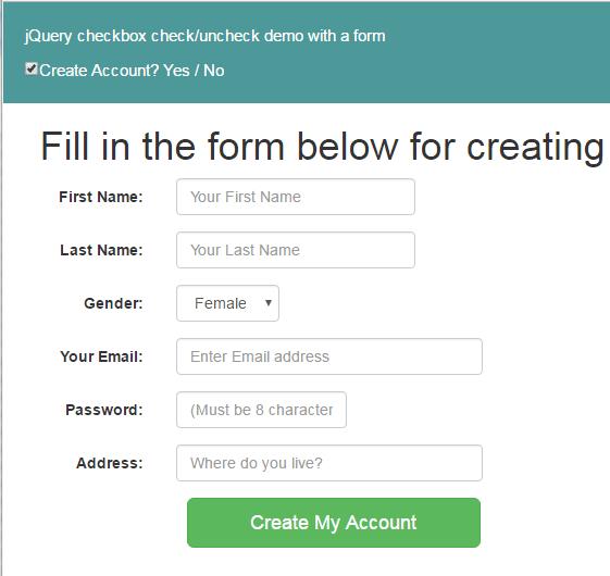 query checkbox checked