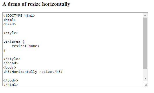 HTML textarea resize: How to disable with 3 demos
