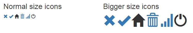 bootstrap glyph icon span