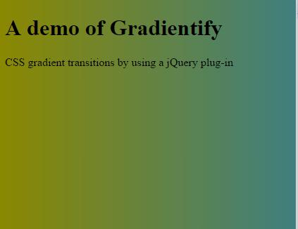CSS jquery gradient