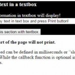 jQuery print plug-in for printing specific section of a webpage