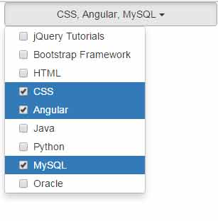 jquery multiselect dropdown list plugin