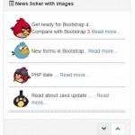 Bootstrap news ticker / slider with jQuery: 3 demos