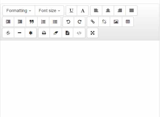 bootstrap text editor custom