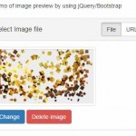 Bootstrap / jQuery image upload preview plug-in