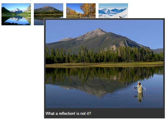 jQuery image preview captions