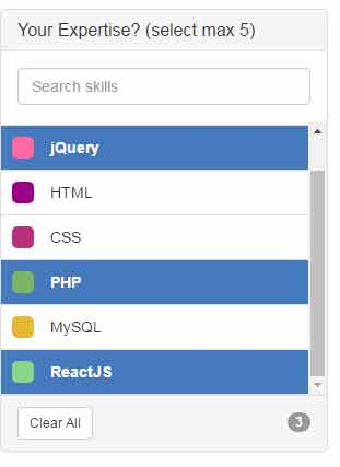 A Bootstrap / jQuery based select box with search and multi