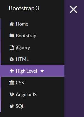 bootstrap sidebar slide