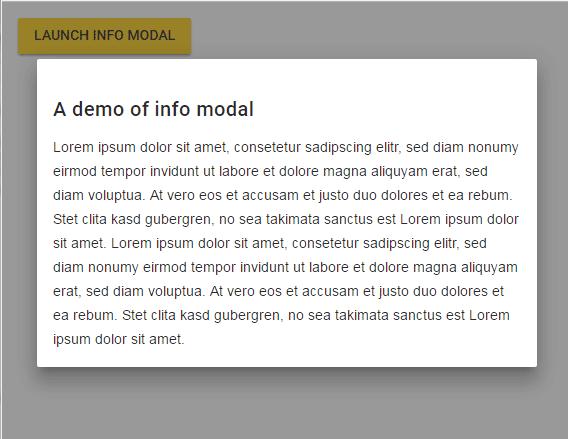 jQuery modal info
