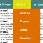 Create CSS and jQuery responsive menu/navigation